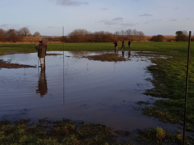 Setting nets at Exminster Marshes 1 Feb 2020 website